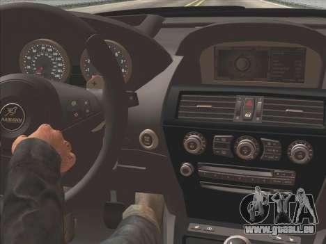 BMW M6 Hamann pour GTA San Andreas vue intérieure