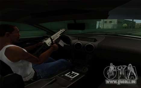 Rapid GT pour GTA San Andreas vue de dessous