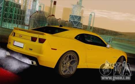 Chevrolet Camaro ZL1 2011 pour GTA San Andreas laissé vue