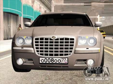 Chrysler 300C 2009 pour GTA San Andreas sur la vue arrière gauche