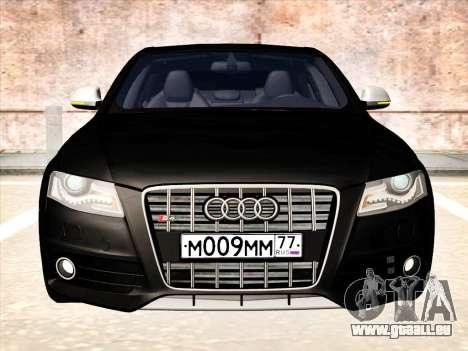 Audi S4 pour GTA San Andreas sur la vue arrière gauche
