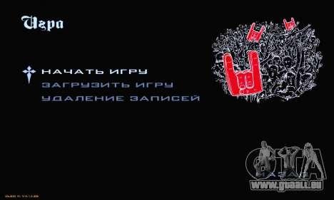 Heavy Metal Menu V.1 für GTA San Andreas dritten Screenshot