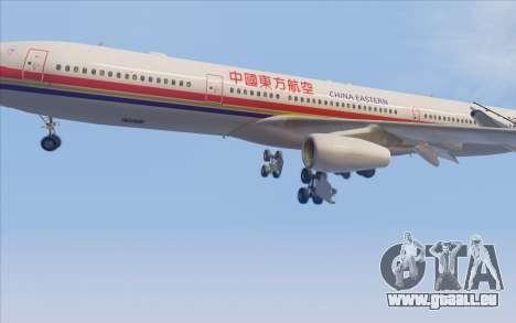 Airbus A340-300 China Eastern pour GTA San Andreas vue de côté