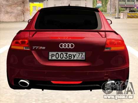 Audi TT RS 2010 für GTA San Andreas zurück linke Ansicht