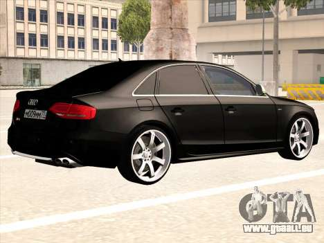 Audi S4 für GTA San Andreas Rückansicht