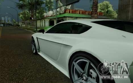 Rapid GT pour GTA San Andreas vue de dessus