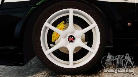 Nissan Skyline GT-R R34 Saitama Police für GTA 4 Rückansicht