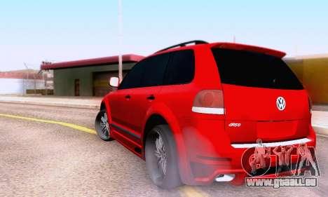 Volkswagen Touareg Mansory pour GTA San Andreas vue arrière