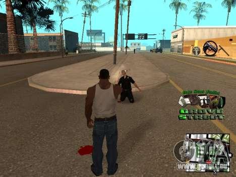 С-PALETTE de Grove Street pour GTA San Andreas troisième écran