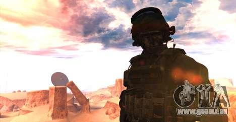 Le lieutenant David l'hesh Walker из Call Of Dut pour GTA San Andreas deuxième écran