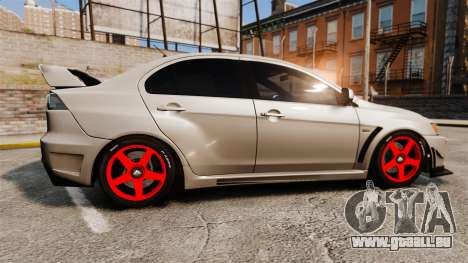 Mitsubishi Lancer Evolution X FQ400 für GTA 4 linke Ansicht