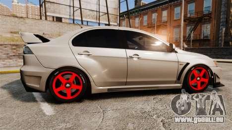 Mitsubishi Lancer Evolution X FQ400 pour GTA 4 est une gauche