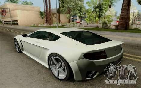 Rapid GT pour GTA San Andreas vue arrière