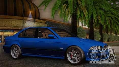 BMW E39 M5 2003 pour GTA San Andreas vue arrière
