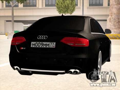 Audi S4 pour GTA San Andreas vue intérieure