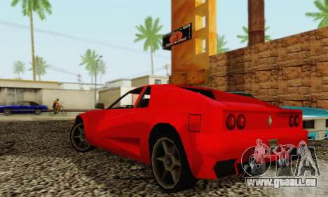 New Cheetah v1.0 für GTA San Andreas Rückansicht
