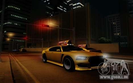Buffalo Taxi pour GTA San Andreas vue arrière