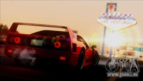 Ferrari F40 1987 pour GTA San Andreas vue de droite
