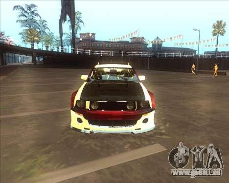 Ford Mustang GT из NFS MW pour GTA San Andreas sur la vue arrière gauche