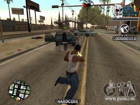 C-HUD Hardcore By KD pour GTA San Andreas troisième écran