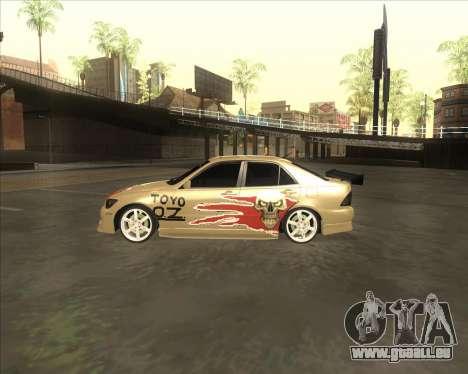 Lexus IS300 Tuneable pour GTA San Andreas sur la vue arrière gauche