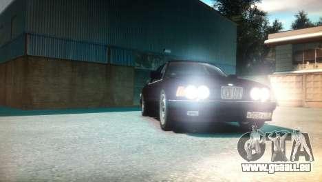BMW 735iL E32 ver 2 pour GTA 4 Vue arrière