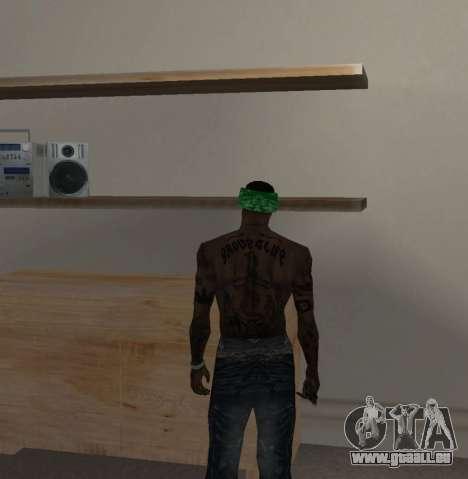 Nouveau bandanas pour CJ pour GTA San Andreas sixième écran