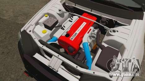 Nissan Skyline GT-R R34 Saitama Police pour GTA 4 est une vue de l'intérieur