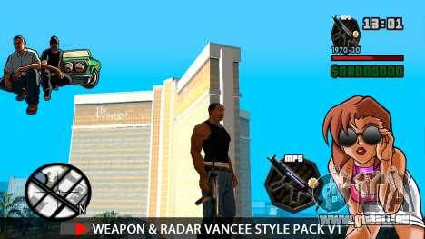Arme & Radar VanCee Style Pack v1 pour GTA San Andreas sixième écran