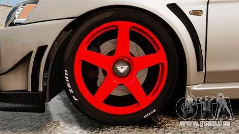 Mitsubishi Lancer Evolution X FQ400 pour GTA 4 Vue arrière