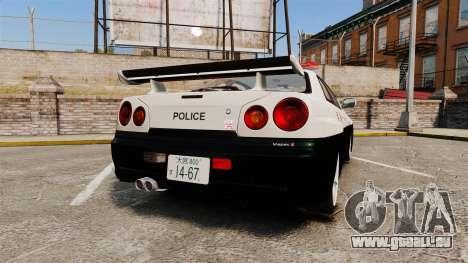 Nissan Skyline GT-R R34 Saitama Police pour GTA 4 Vue arrière de la gauche
