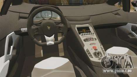 Lamborghini Aventador LP700-4 2012 [EPM] Circle pour GTA 4 est une vue de l'intérieur