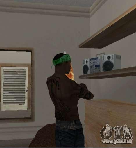 Nouveau bandanas pour CJ pour GTA San Andreas quatrième écran