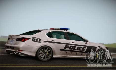 Lexus GS350 F Sport Series IV Police 2013 für GTA San Andreas rechten Ansicht