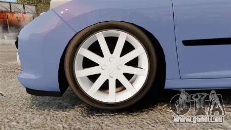 Peugeot 207 RC pour GTA 4 Vue arrière