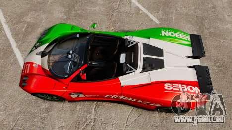 Pagani Zonda C12 S Roadster 2001 PJ6 pour GTA 4 est un droit