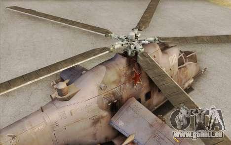 Mi-24D Hind from Modern Warfare 2 für GTA San Andreas rechten Ansicht