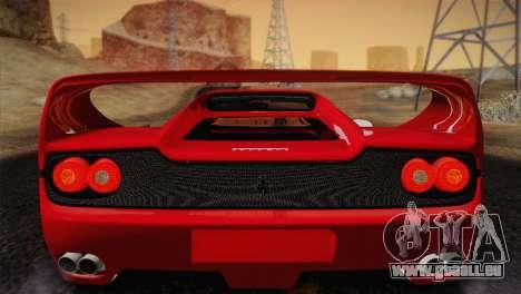 Ferrari F50 1995 pour GTA San Andreas vue intérieure