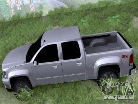GMC Sierra SLT pour GTA San Andreas sur la vue arrière gauche