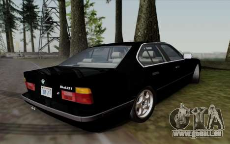 BMW 540i (E34) pour GTA San Andreas sur la vue arrière gauche