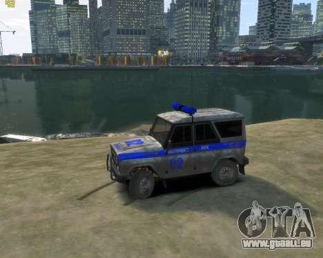 UAZ 315195 Chasseur de Police pour GTA 4 est une gauche