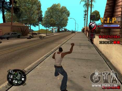 C-HUD VIP pour GTA San Andreas cinquième écran