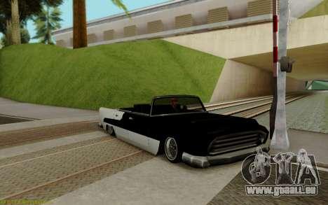 Océanique Convertible pour GTA San Andreas laissé vue