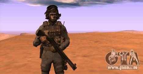 Le lieutenant David l'hesh Walker из Call Of Dut pour GTA San Andreas