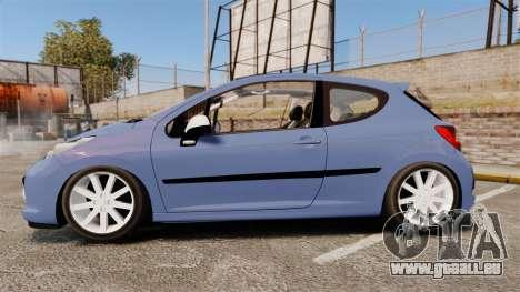 Peugeot 207 RC pour GTA 4 est une gauche