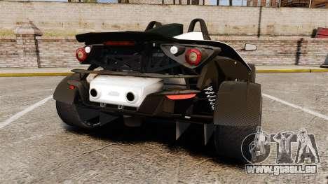 KTM X-Bow R pour GTA 4 Vue arrière de la gauche
