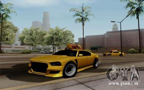 Buffalo Taxi pour GTA San Andreas sur la vue arrière gauche