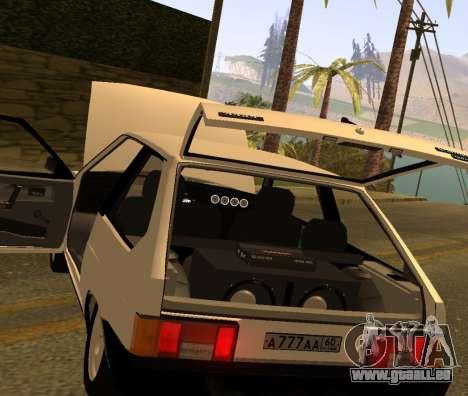 ВАЗ 2108 GVR Version 2.0 pour GTA San Andreas vue arrière
