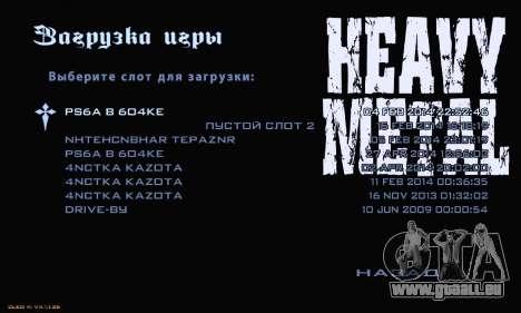 Heavy Metal Menu V.1 für GTA San Andreas her Screenshot