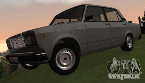 VAZ-2107 pour GTA San Andreas vue arrière